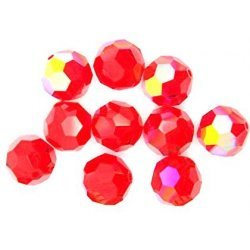 Klaaspärlid / Glass Beads 10. tk / pcs 6mm Punane / Red