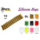 Material for tying flies AKARA Silicone Legs SL (15 cm, color: 12)
