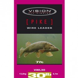 Vision PIKE wire leader 30lb/7ft