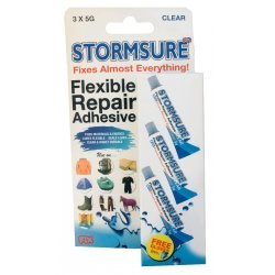 Stormsure Flexible Repair Adhesive 3x5g Clear
