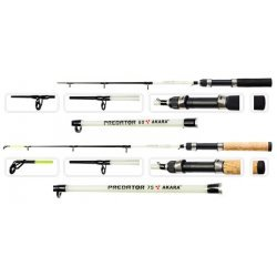 Taliritv / Winter rod AKARA Predator with corky handle (51+24cm, action: hard, color: B/W)