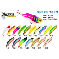 Wobbler AKARA  Soft Vib  75 FS (17g 75mm color: A140)