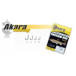 Hooks AKARA SW-029-1 TROUT/FORELL (Nr. 10, BN) with leaders (60 cm, 0,14 mm) 10.pcs