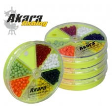 Beads AKARA 7COL (7 colors, diam ca 2,5mm no. 12/0)