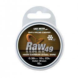 Savage Gear RAW49 Hig Carbon Steel Wire 10m 0,54mm / 23kg