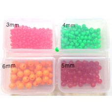 Beads AKARA 4COL (4 colors) 3mm/4mm/5mm/6mm