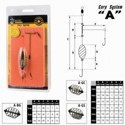 Carp live bait clip AKARA A-GS-20 (lead on the side, 20g cm)