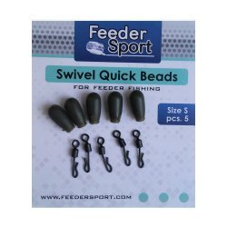 FeederSport Swivel Quick Beads Size / Suurus: S 5.pcs / tk