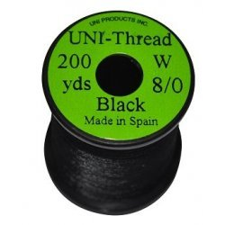 EUMER Uni 8/0 thread 200y black