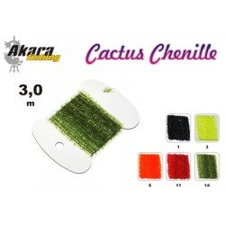 Material for tying flies AKARA Cactus Chenille MM (3,0 cm, color: 1 black)