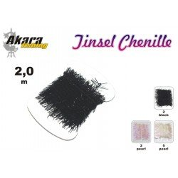 Material for tying flies AKARA Tinsel Chenille MMJ-5 (2,0 cm, color: pearl)