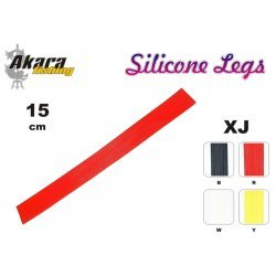 Material for tying flies AKARA Silicone Legs XJ (15 cm, color: Red)