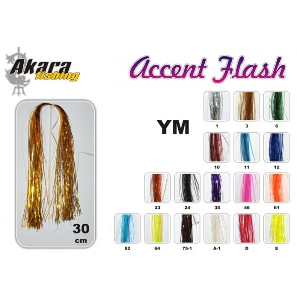 Flies tail AKARA Flash Accent YM (30 cm, color: 3)
