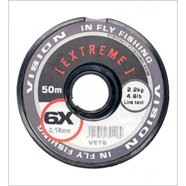 Vision EXTREME tippet material (1X) 0,26mm/6,20kg/30m