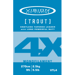 Vision TROUT leader 4X