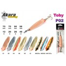 AKARA «Toby» P02 (spoon bait, 28 g, 90 mm, colour: P0207 AK13/CU)