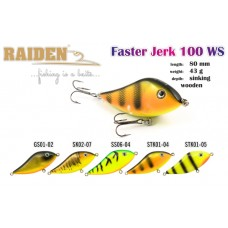 RAIDEN Faster Jerk 100 (43 g, 100 mm, colour SS06-04)