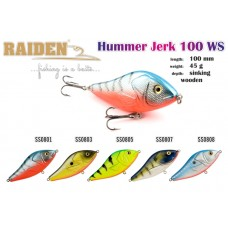 RAIDEN Hummer Jerk 100 (45 g, 100 mm, colour SS0805)
