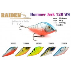 RAIDEN Hummer Jerk 120 (80 g, 120 mm, colour SS0803)