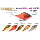 RAIDEN «Musky Killer Jerk» 80 WS (20 g, 80 mm, colour SS10-04) wooden