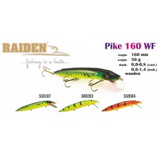 RAIDEN «Pike» 160 F (50 g, 160 mm, colour SS0107) wooden