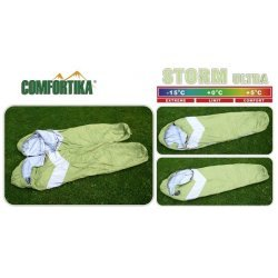 Sleeping bag COMFORTIKA «Storm Ultra» (185+35 x 75 cm, Thermolong, left zipper) CSU-L