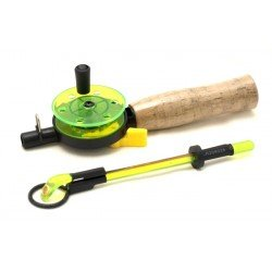 Winter rod AKARA QL-106A with corky handle (1610 cm, reel diam. 55 mm, green)
