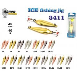 Winter lure «Ice Jig» 3411 (vert., 55 mm, 10g, colour: CU/NI)
