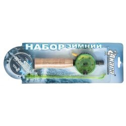 Ice fishing set AKARA JL1001 with corky handle (42 cm,Crystal Line 30m, 0,14mm) S1808001A