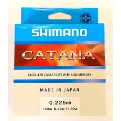 Shimano Catana 150m 0.185mm/3.40kg color: clear (MADE IN JAPAN)