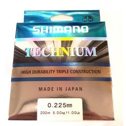 Shimano Technium 200m 0.255mm/6.10kg color: Black (MADE IN JAPAN)