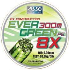 Asso EVER GREEN PE 8X 0.36mm/30.70kg/300m