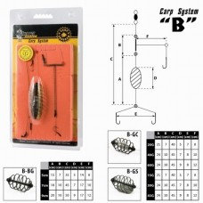 Carp live bait clip AKARA B-GC (lead in the middle, 45 g, cm)