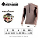 Thermal underwear TAGRIDER NORDLAND top (S 46-48, colour: grey  orange  black)