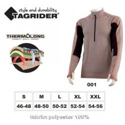 Thermal underwear TAGRIDER NORDLAND top (L 50-52, colour: grey  orange  black)